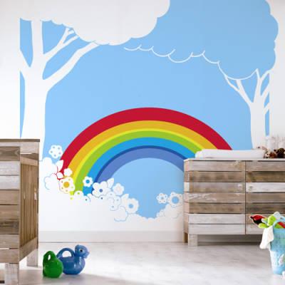 rainbow 380023 digital mural rainbow 380023 rainbow mural painted custom wall murals in toronto