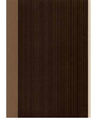 Figaro/Chocolate - 56537 - Wallpaper A bold three- color stripe with an irr