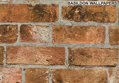 WOOD, BRICK .. :: BRICK EFFECT :: Bricks Brown   FD31045   Wallpaper