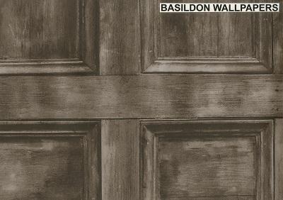 Wood Panel Dark Brown