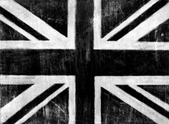black silver wallpaper. Black/Silver Union Jack - Wall