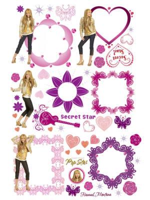 hannah montana wallpaper. Hannah Montana Wall Stickers