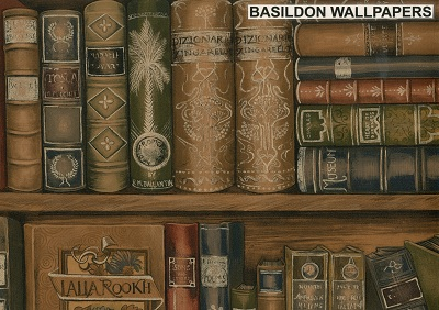 Fake Book Wallpaper Bookcase  Wallpapers And Borders To Buy Online .