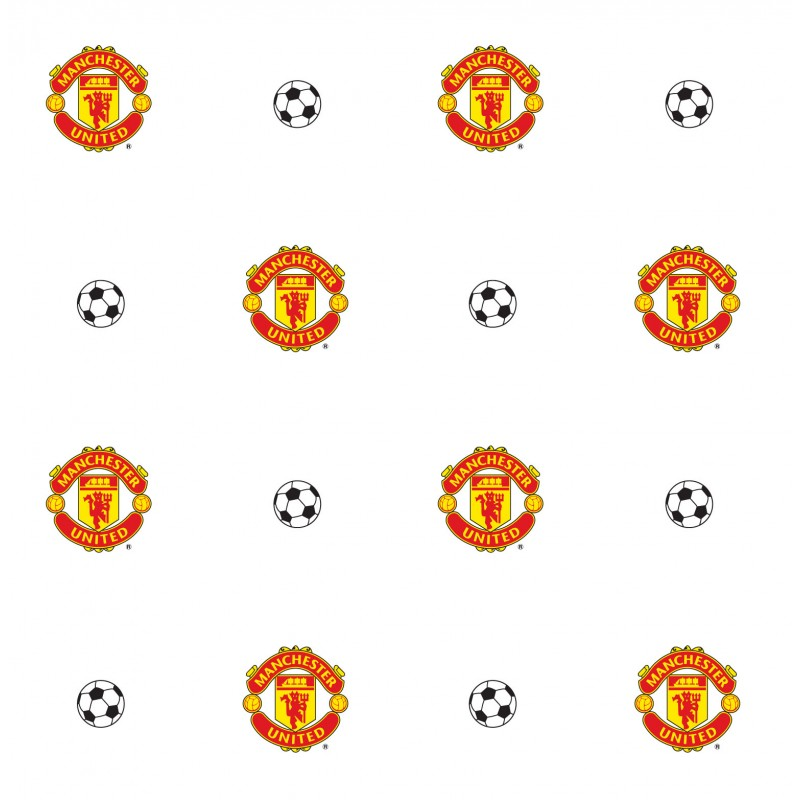 Manchester united crest wallpaper for Man u bedroom accessories