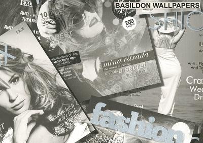 Magazines Fashion Black White