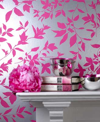 Wallpapers and borders to buy online wallpaperandborders for Pink and silver wallpaper